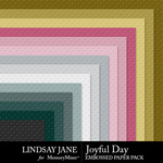 Joyful Day Embossed Paper Pack-$2.49 (Lindsay Jane)