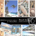 Beach Images Embellishment Pack-$2.49 (Bisous By Suzanne Carillo)