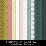 Joyful Day Pattern Paper Pack-$2.49 (Lindsay Jane)