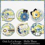 Hello There Cluster Seals Pack-$2.49 (Ooh La La Scraps)