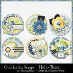 Hello There Cluster Seals Pack-$1.75 (Ooh La La Scraps)