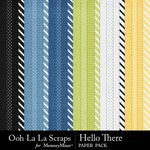 Hello There Pattern Paper Pack-$2.49 (Ooh La La Scraps)