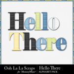 Hello There Alphabet Pack-$3.49 (Ooh La La Scraps)