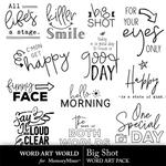 Big shot word art small