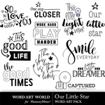 Our little star word art small