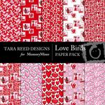 Love Birds Paper Pack-$4.00 (Tara Reed Designs)