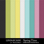 Spring Time LJ Embossed Paper Pack-$2.49 (Lindsay Jane)