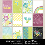 Spring Time LJ Journal Cards Pack-$2.49 (Lindsay Jane)