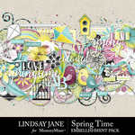 Spring Time LJ Embellishment Pack-$3.49 (Lindsay Jane)