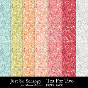Tea for two glitter papers medium