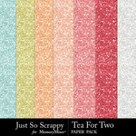Tea for two glitter papers small