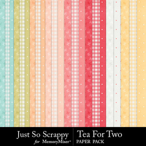 Tea for two pattern papers medium