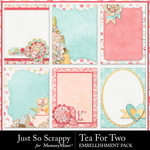 Tea for two journal cards small