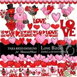 Love Birds Embellishment Pack-$3.49 (Tara Reed Designs)