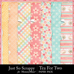 Tea for Two Worn and Torn Paper Pack-$2.49 (Just So Scrappy)