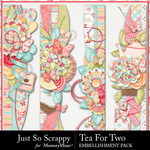 Tea for Two Page Borders Pack-$2.49 (Just So Scrappy)