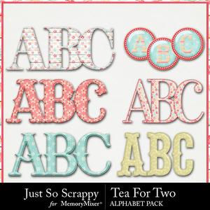 Tea for two alphabets medium