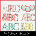 Tea for Two Alphabet Pack-$3.49 (Just So Scrappy)
