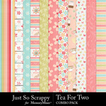 Tea for two kit papers small
