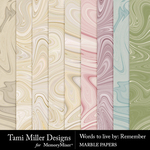 Words to Live By Remember Marble Papers-$4.99 (Tami Miller)