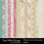 Words to Live By Remember Paper Pack-$4.99 (Tami Miller)
