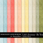 Lifes Journey Be You Solid Paper Pack-$2.99 (Laura Burger)