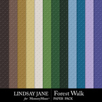 Forest Walk Embossed Paper Pack-$2.49 (Lindsay Jane)
