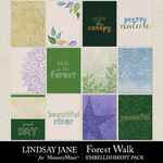 Forest Walk Journal Cards Pack-$2.49 (Lindsay Jane)