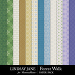 Forest Walk Pattern Paper Pack-$2.49 (Lindsay Jane)