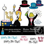 Retro New Year Embellishment Pack-$3.00 (Tara Reed Designs)