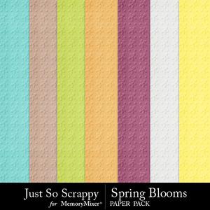 Spring blooms embossed papers medium