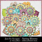 Spring Blooms JSS Layered Flowers Pack-$2.49 (Just So Scrappy)