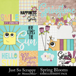 Spring blooms pocket scrap cards small