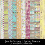 Spring Blooms JSS Worn Wood Paper Pack-$2.49 (Just So Scrappy)