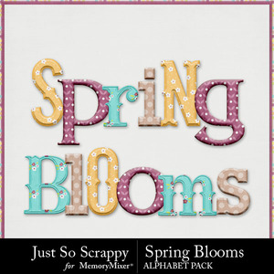 Spring blooms alphabets medium
