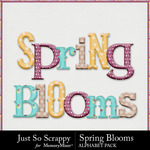 Spring blooms alphabets small