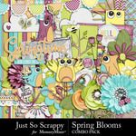 Spring Blooms JSS Combo Pack-$4.99 (Just So Scrappy)