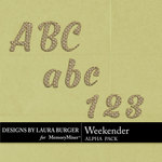 Weekender Alphabet Pack-$3.50 (Laura Burger)