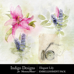 Elegant Lily Accent Pack-$2.99 (Indigo Designs)