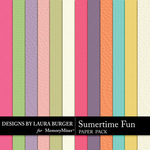 Summertime Fun Embossed Paper Pack-$3.99 (Laura Burger)