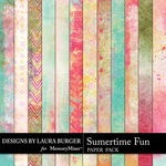 Summertime Fun Grunge Paper Pack-$3.99 (Laura Burger)