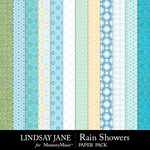 Rain Showers Pattern Paper Pack-$2.49 (Lindsay Jane)