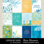 Rain Showers Journal Cards Pack-$2.49 (Lindsay Jane)