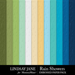 Rain Showers Embossed Paper Pack-$2.49 (Lindsay Jane)