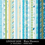 Rain Showers Paper Pack-$2.99 (Lindsay Jane)