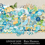 Rain Showers Embellishment Pack-$3.49 (Lindsay Jane)