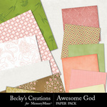 Awesome God Paper Pack-$3.99 (Becky's Creations)