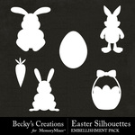 Easter Silhouettes Embellishment Pack-$2.99 (Becky's Creations)