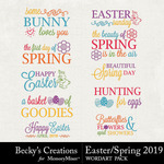 Easter Spring 2019 WordArt Pack-$2.99 (Becky's Creations)