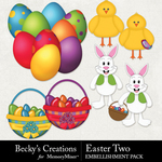 Easter Two Embellishment Pack-$3.49 (Becky's Creations)